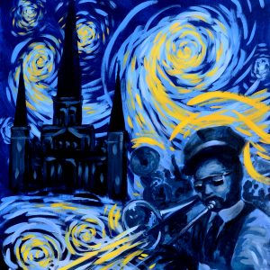 New Orleans Jazz Second Line Starry Night