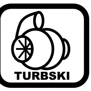 Die Cut Vinyl decal of a stylized turbocharger.